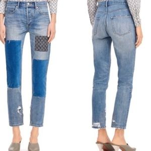 LA VIE REBECCA TAYLOR Patched Jeans Sz 26 NEW